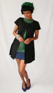 05/08/09: Vestido Beacons Closet. Chapéu vintage do Ebay. Sapatilhas do Etsy.